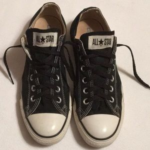 Converse All Stars Black Canvas Sneakers sz 8.5